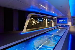 Showroom-Konzept für Airbus in Berlin