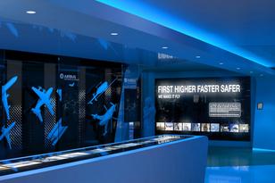 Airbus Showroom in Berlin nach einem Konzept von VRPE