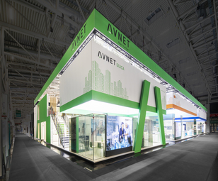 AVNET exhibition stand at Electronica 2018 in Munich